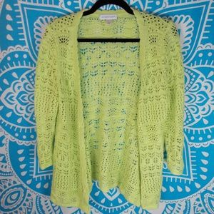 Long Button Up Cardigan Bright Small S Knit